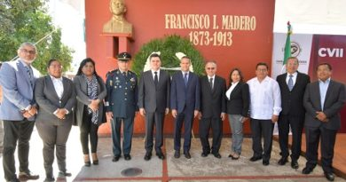 Conmemoran CVII aniversario luctuoso de Madero