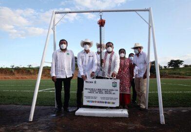 Soyaltepec crece en infraestructura deportiva y social: Murat